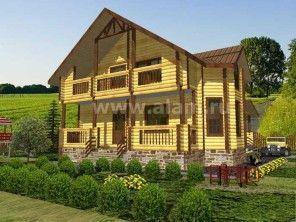Дом из оцилиндрованного бревна ОБ-97