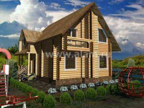 Дом из оцилиндрованного бревна ОБ-94