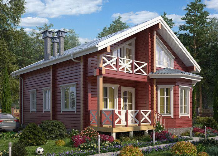 Дом из профилированного бруса ПБ-99