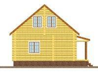 Дом из оцилиндрованного бревна ОБ-101