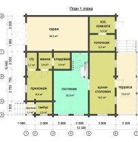 Дом из профилированного бруса ПБ-84