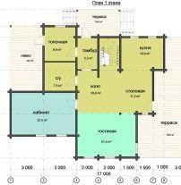 Дом из профилированного бруса ПБ-85