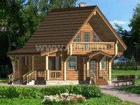 Дом из оцилиндрованного бревна ОБ-82