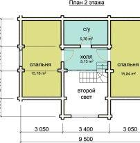 Дом из профилированного бруса ПБ-75