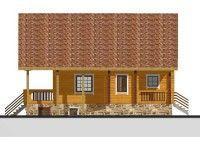 Дом из профилированного бруса с террасой  ПБ-83