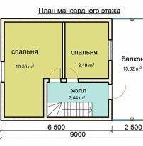 Дом из профилированного бруса ПБ-11