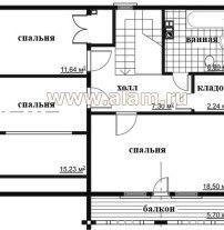 Дом из профилированного бруса ПБ-73