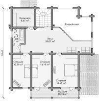 Дом из оцилиндрованного бревна ОБ-102