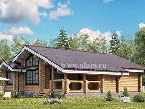 Одноэтажный дом из оцилиндрованного бревна ОБ-106