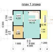 Недорогой дом из профилированного бруса Д-2