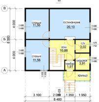 Дешевый дом из профилированного бруса Д-1