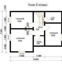 Дом из профилированного ПБ-90