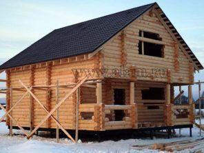 Дом из оцилиндрованного бревна ОБ-85
