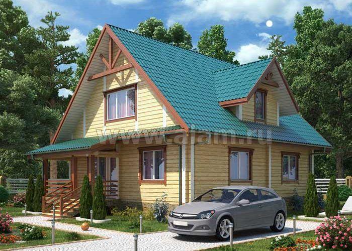 Дом из бруса профилированного ПБ-93