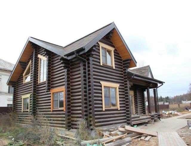 Недорогие дома из оцилиндрованного бревна