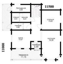 Лучший брусовой дом ПБ-95