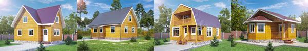 Удачные дачные деревянные дома
