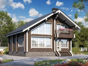 Деревянный дом с балконом ОБ-90