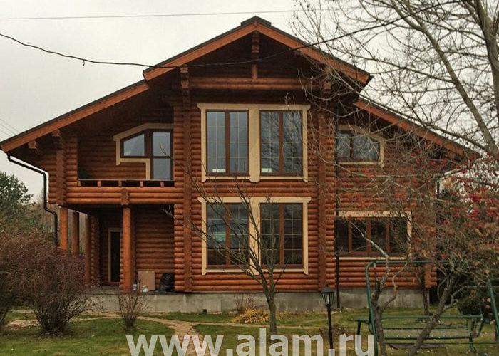 Дом из бревна со вторым светом ОБ-98