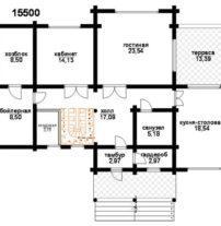Двухэтажный в бревне ОБ-100