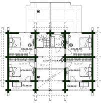 Дом из бревна под ключ ОБ-93