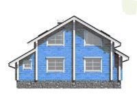 Дом-шале брусовой двухэтажный ПБ-110
