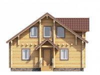 Дом из бревна с мансардой ОБ-87