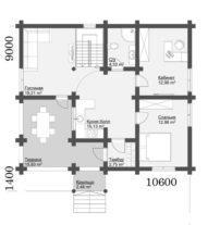 Дом из дерева проект ОБ-92