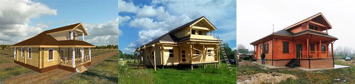 дом из бруса в русском стиле